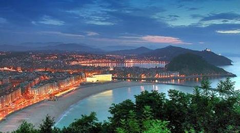 Vue sur la côte Basque proche de l'hôtel Olatua de Bidart au Pays Basque