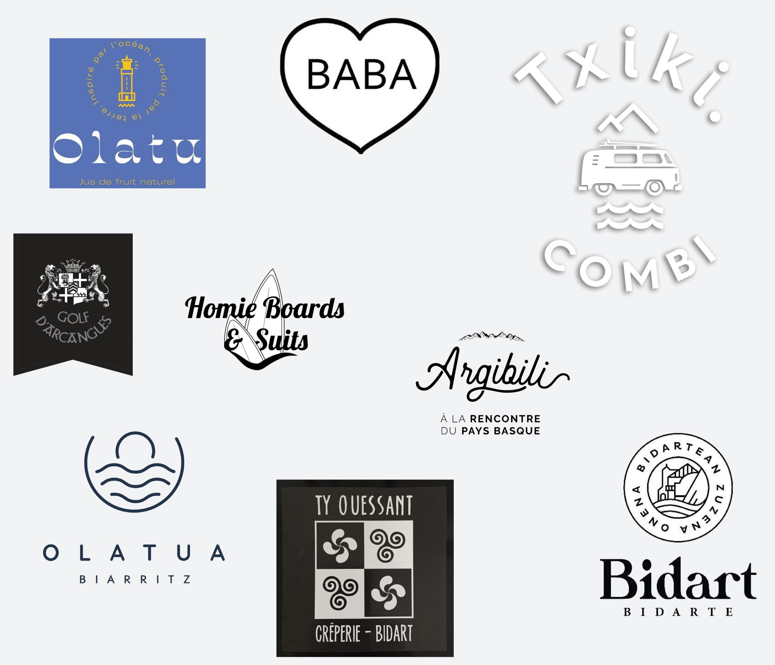 Logotypes des partenaires de l'hôtel Olatua de Biadart